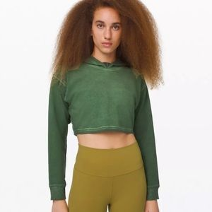 Lululemon All Yours Cropped Hoodie Green 6